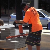 Brick Paving Perth Vacuum Machine In Action - Photo1 - Challenge Brick Paving Contractors