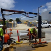 Brick Paving Perth Vacuum Machine In Action - Photo4 - Challenge Brick Paving Contractors