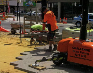 Challenge Brick Paving - Mandurah Streetscape safety First