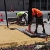 Brick Paving Perth Vacuum Machine In Action - Photo3 - Challenge Brick Paving Contractors