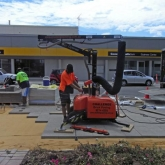 Brick Paving Perth Vacuum Machine In Action - Photo5 - Challenge Brick Paving Contractors